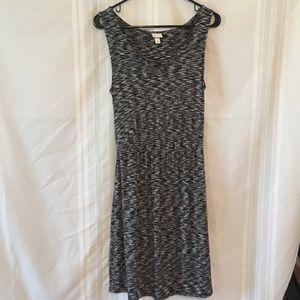 Merona Black & White Heather Sleeveless Dress